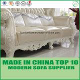 Sofá clássico barato do couro 1+2+3 da sala de visitas de Dubai Sectionals