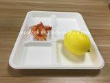 """Pasta de papel desechables Biodegrable 10""""x8""""/5 compartimento de la bandeja de la escuela"""