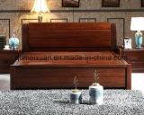 Cama de madera maciza modernas camas dobles (M-X2350)