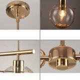 현대 작풍 디자인 황금 색깔 공 거는 유리제 빛