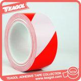 band van de Buis van de Voorzichtigheid van pvc van het rood-Wit van 50mm de Brede voor het Merken van de Vloer