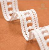Milch-Garn-wasserlösliches Polyester-Netzkabel-afrikanische französische Spitze
