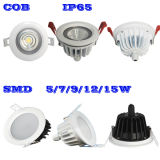 12W IP65 Waterproof  Luz de teto COB&#160 Recessed do diodo emissor de luz; LED  Downlight