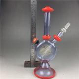 pipe de fumage en verre rouge de plate-forme pétrolière de recycleur de conduite d'eau 11.5inch