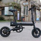 Ideawalkの黒い小型携帯用電気バイクF1