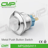 28mm Anti-Vandal Latching Push Short prop Switch (MP28S/F11-E, TUV, EC)