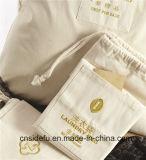 Fördernder natürlicher Baumwollsegeltuchdrawstring-Hotel-Wäscherei-Beutel