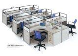 Estação de trabalho do escritório do compartimento do escritório com suporte do processador central, gabinete das gavetas
