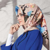 Lenço de seda Hijab do turbante de 2017 mulheres muçulmanas islâmicas novas da forma