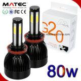Lampe légère principale H4 H7 H11 9004 de DEL 9005 9006 9007 lumière de tube de 360 degrés DEL