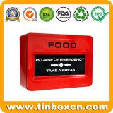 Emergency Nahrungsmittelrechteckiges Metallspeicher-Zinn für Imbiss-Biskuit-Plätzchen