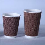 Одноразовые 16oz тисненая бумага чашка для эспрессо