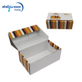 Подгонянная белая коробка ботинка упаковывая оптовую коробку гофрированной бумага
