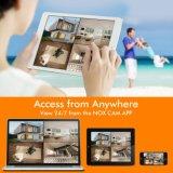 Sistema de segurança Kits NVR 4CH 1080P Câmara CCTV IP de rede