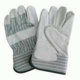 Перчатка работы безопасности Rigger перчатки ладони двойника Split кожи коровы
