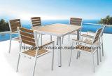 PE Rattan mesa de jardín Conjunto de silla de comedor Muebles de exterior