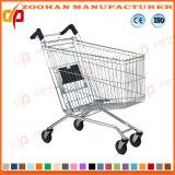 Металлический супермаркет бакалеи провода регулируя тележку вагонетки покупкы (Zht205)