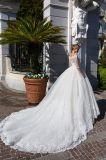 Amelie felsiges Ballkleid-Brautspitze-Tulle-Hochzeits-Kleid 2018