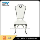 Chaise de salle à manger en acier inoxydable pour coussin en tissu