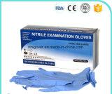 Одноразовые перчатки нитриловые синего цвета и порошка порошок бесплатного медицинского класса