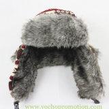 Шлем Trapper Ushanka снежка связанный жаккардом русский