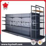 Double étagère lourde latérale de gondole de treillis métallique d'hypermarché
