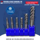 4-Flute aplainou moinhos de extremidade contínuos do carboneto personalizou disponível