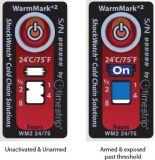 La marca caliente 2 48 horas refrigeró la etiqueta engomada del indicador de la temperatura del helada del transporte