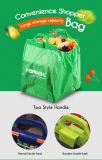 Una capa de poliéster Bolsa de compras de supermercado con logotipo impreso