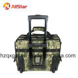 Sacchetto di rotolamento resistente del carrello della valigia attrezzi dell'elettricista di colore di Camo con le rotelle