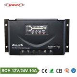 contrôleur intelligent de charge de panneau solaire des prix PWM de RoHS de la CE de 12V 24V 10A