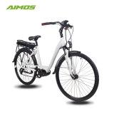 bicicleta eléctrica del MEDIADOS DE mecanismo impulsor 700c con la batería trasera del estante