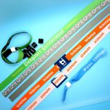 カスタムロゴHF 13.56MHz ISO14443AのNTAG213によって編まれる祝祭NFCのブレスレット