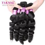 Colore naturale di trama riccio Remy di spirale umana peruviana dei capelli di Yvonne