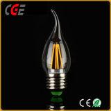 As lâmpadas LED Ouro/Prata de alta qualidade 2W/4W C35 LED de luz da lâmpada de filamento de lâmpada LED