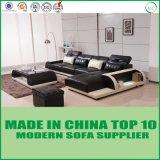 Mobilia moderna europea L sezionale strato del sofà del cuoio di figura