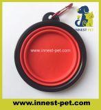 Ciotola pieghevole di marchio dell'alimento per animali domestici del cane esterno su ordinazione all'ingrosso dei rifornimenti