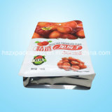 Di plastica di alluminio si levano in piedi in su il sacchetto del rinforzo di imballaggio per alimenti