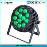 옥외 12PCS 15W RGBW 급상승 LED 동위 단계 빛