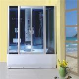 Vidro de têmpera redonda grande casa de banho com duche deslizante fábrica de cabina