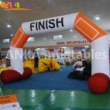 Arco de balão de tamanho personalizado digitou almofada insuflável arco na linha de chegada para desportos