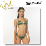 Striped Swimsuit Бикини Swimwear конструкции Halter печатание