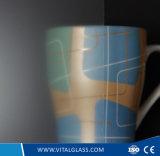 El vidrio helado ultra blanco con el ácido grabó al agua fuerte el vidrio