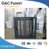Venster van het Glas van de Legering van het aluminium/van het Aluminium het Horizontale Glijdende Gekleurde
