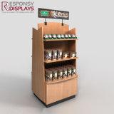 De Planken van de Vertoning van de Drank van de Koffie van de Chocoladereep van de vloer