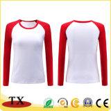 Magliette delle donne di vendita calde del cotone con il marchio personalizzato