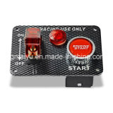 Электроника участвуя в гонке автомобиля один рычаг кнопки старта двигателя панели набора переключателя