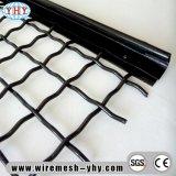 平屋建家屋の高炭素の鋼鉄によって編まれるひだを付けられた振動スクリーンの網