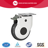 Plaque de 5pouce TPR Medical Castor avec frein