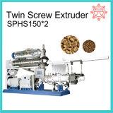 & Flutuante Naufrágio alimentos para peixes extrusora de duplo fuso máquina de extrusão Sphp120*2/150*2